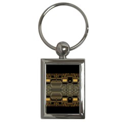 Board Digitization Circuits Key Chains (rectangle)