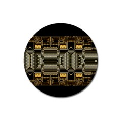 Board Digitization Circuits Magnet 3  (round)