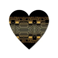 Board Digitization Circuits Heart Magnet