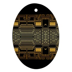 Board Digitization Circuits Oval Ornament (two Sides) by Nexatart