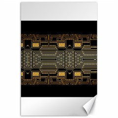 Board Digitization Circuits Canvas 24  X 36  by Nexatart