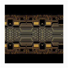 Board Digitization Circuits Medium Glasses Cloth (2 Side) by Nexatart