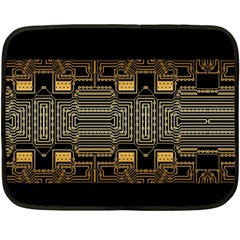 Board Digitization Circuits Fleece Blanket (mini)