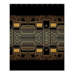 Board Digitization Circuits Shower Curtain 60  X 72  (medium)