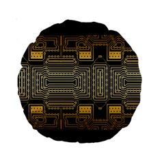 Board Digitization Circuits Standard 15  Premium Round Cushions