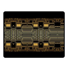 Board Digitization Circuits Double Sided Fleece Blanket (small)