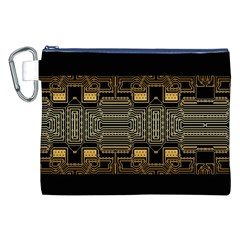 Board Digitization Circuits Canvas Cosmetic Bag (xxl) by Nexatart