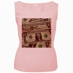 Dollar Currency Money Us Dollar Women s Pink Tank Top
