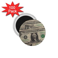 Dollar Currency Money Us Dollar 1 75  Magnets (100 Pack)  by Nexatart