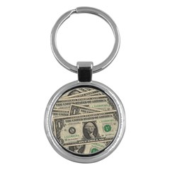 Dollar Currency Money Us Dollar Key Chains (round)