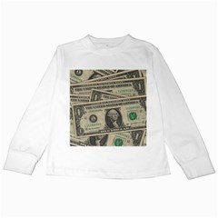 Dollar Currency Money Us Dollar Kids Long Sleeve T Shirts