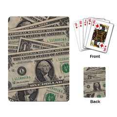 Dollar Currency Money Us Dollar Playing Card