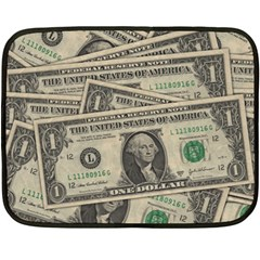 Dollar Currency Money Us Dollar Fleece Blanket (mini) by Nexatart