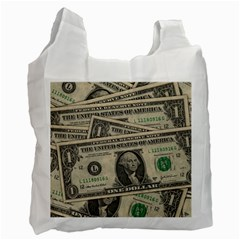 Dollar Currency Money Us Dollar Recycle Bag (one Side)