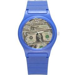 Dollar Currency Money Us Dollar Round Plastic Sport Watch (s)