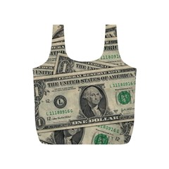 Dollar Currency Money Us Dollar Full Print Recycle Bags (s)  by Nexatart