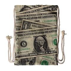 Dollar Currency Money Us Dollar Drawstring Bag (large)