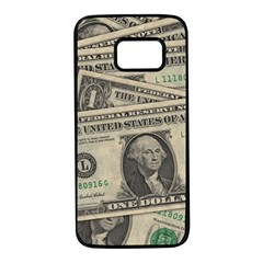 Dollar Currency Money Us Dollar Samsung Galaxy S7 Black Seamless Case