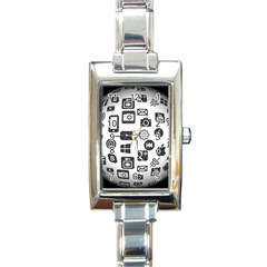 Icon Ball Logo Google Networking Rectangle Italian Charm Watch