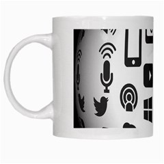 Icon Ball Logo Google Networking White Mugs by Nexatart