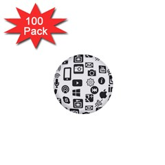 Icon Ball Logo Google Networking 1  Mini Buttons (100 Pack)