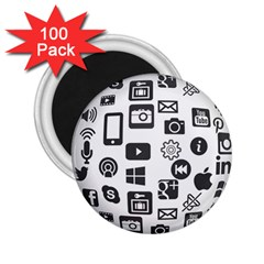 Icon Ball Logo Google Networking 2 25  Magnets (100 Pack)