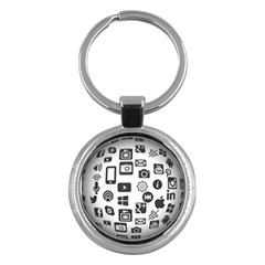 Icon Ball Logo Google Networking Key Chains (round)  by Nexatart