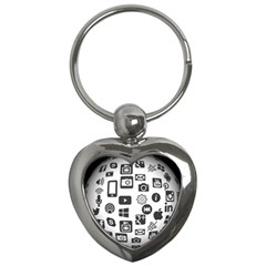 Icon Ball Logo Google Networking Key Chains (heart)  by Nexatart