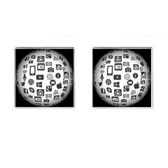 Icon Ball Logo Google Networking Cufflinks (square) by Nexatart