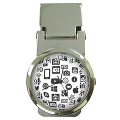 Icon Ball Logo Google Networking Money Clip Watches by Nexatart