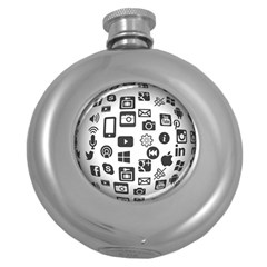 Icon Ball Logo Google Networking Round Hip Flask (5 Oz)
