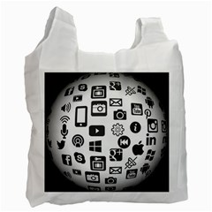 Icon Ball Logo Google Networking Recycle Bag (one Side) by Nexatart