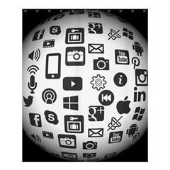 Icon Ball Logo Google Networking Shower Curtain 60  X 72  (medium)  by Nexatart