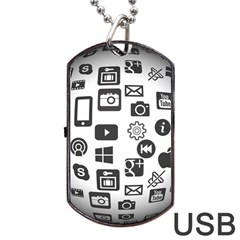 Icon Ball Logo Google Networking Dog Tag Usb Flash (two Sides) by Nexatart