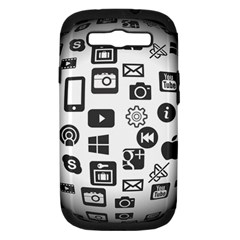 Icon Ball Logo Google Networking Samsung Galaxy S Iii Hardshell Case (pc+silicone) by Nexatart