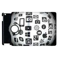 Icon Ball Logo Google Networking Apple Ipad 2 Flip 360 Case by Nexatart