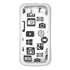 Icon Ball Logo Google Networking Samsung Galaxy S3 Back Case (white)