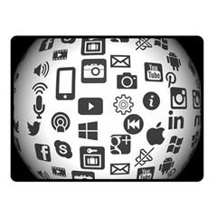 Icon Ball Logo Google Networking Double Sided Fleece Blanket (small)