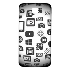 Icon Ball Logo Google Networking Samsung Galaxy S5 Back Case (white)