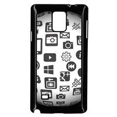 Icon Ball Logo Google Networking Samsung Galaxy Note 4 Case (black) by Nexatart
