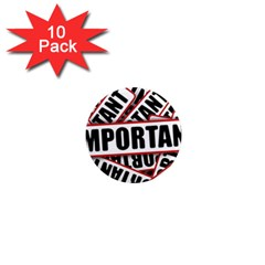 Important Stamp Imprint 1  Mini Magnet (10 Pack)