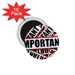 Important Stamp Imprint 1 75  Magnets (10 Pack)