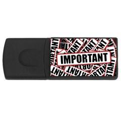 Important Stamp Imprint Rectangular Usb Flash Drive