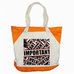 Important Stamp Imprint Accent Tote Bag by Nexatart