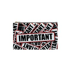 Important Stamp Imprint Cosmetic Bag (small)  by Nexatart