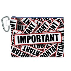 Important Stamp Imprint Canvas Cosmetic Bag (xl) by Nexatart