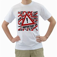 Important Stamp Imprint Men s T Shirt (white) (two Sided)