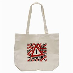 Important Stamp Imprint Tote Bag (cream)