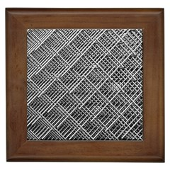 Grid Wire Mesh Stainless Rods Framed Tiles
