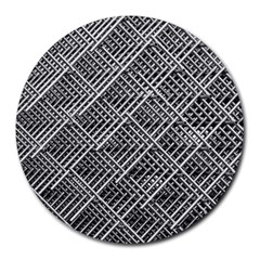 Grid Wire Mesh Stainless Rods Round Mousepads